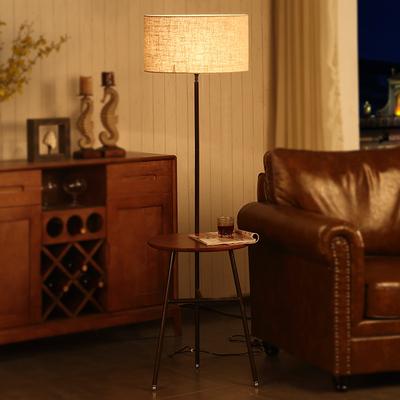 北欧简约大气地灯 客厅书房酒店别墅艺术装饰遥控落地灯美式