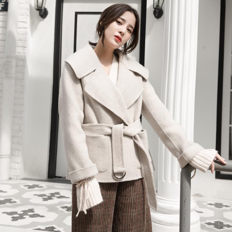 羊绒半大衣