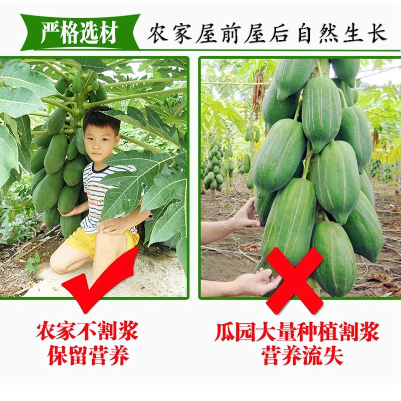茉莉娃木瓜丝干酱菜广西横县特产青木瓜条干农家香辣散装木瓜丁条