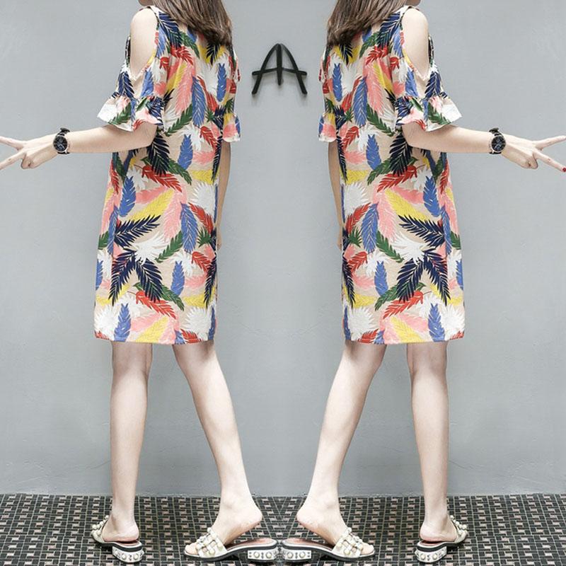 加大码女装胖mm新款微胖仙女连衣裙子遮肚子藏肉减龄显瘦夏装洋气