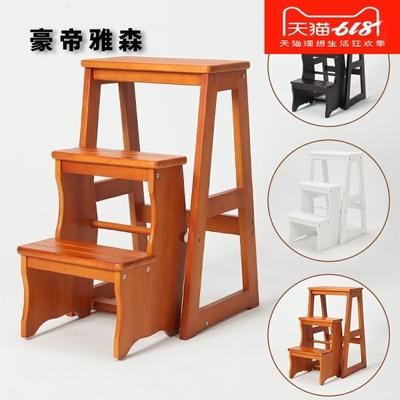 正泰家居两层梯凳实木凳子住宅家具其它凳 高凳 木凳 木家具 板凳