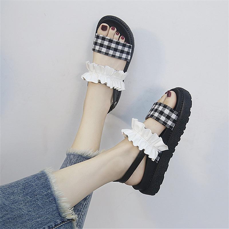 厚底凉鞋罗马风