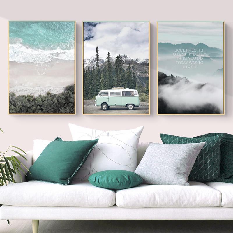 艺术画挂画客厅风景