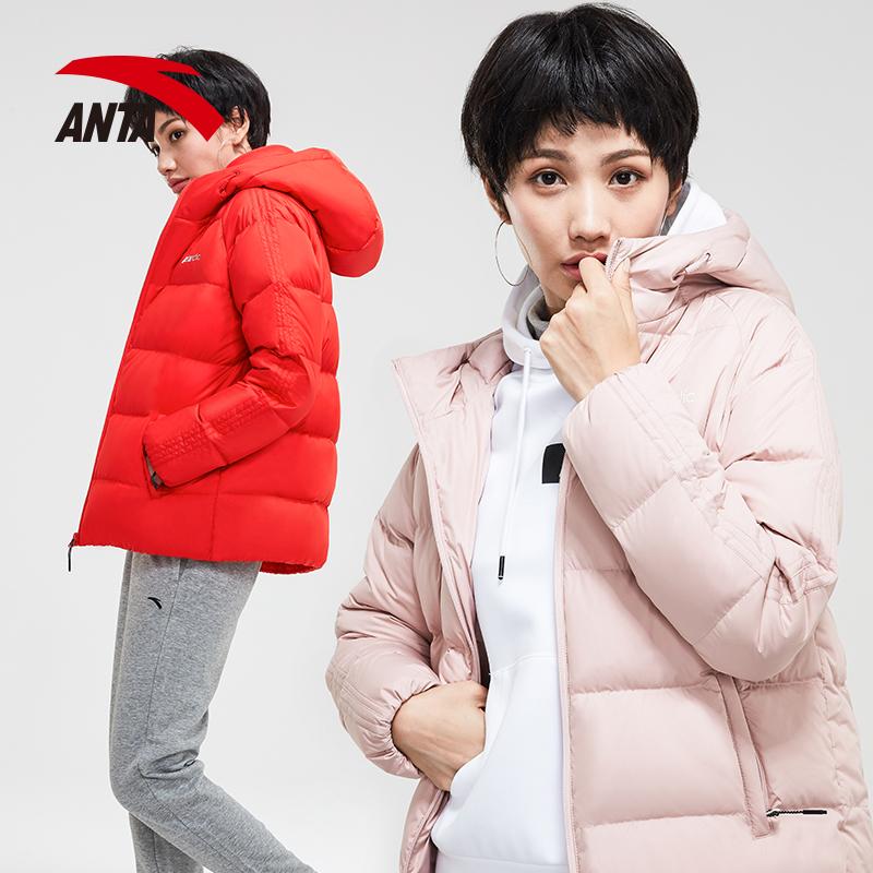 安踏女装羽绒服2018冬季新款舒适保暖休闲时尚运动外套女正品上衣