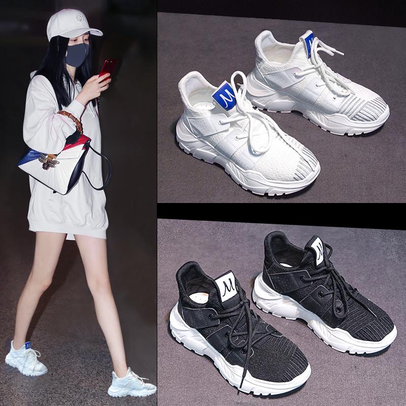 韩版运动鞋女2018春夏秋季新款ulzzang原宿百搭ins超火的小白鞋子