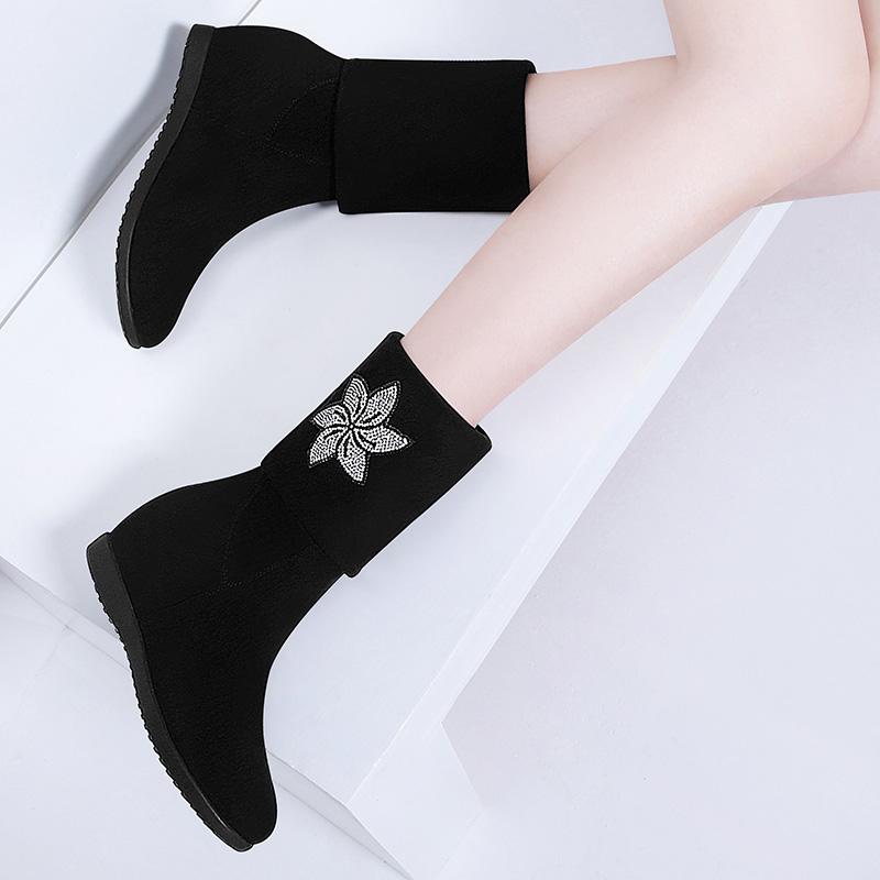 内增高两穿女靴