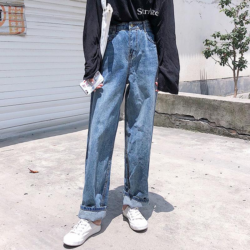 韩国牛仔长裤
