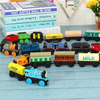 86 wooden Thomas train magnetic wood track matching car 1-24 puzzle building blocks toys
