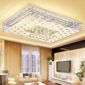 金根灯具客厅灯简约现代大气家用长方形大厅led吸顶灯2017卧室水