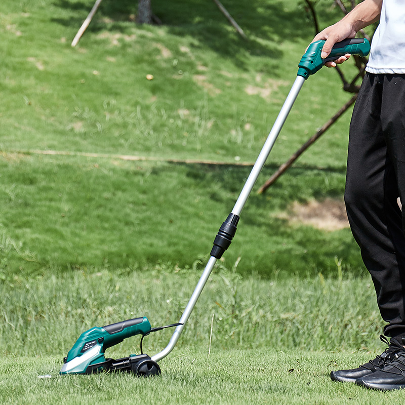 藤原電動割草機兩用草坪機除草機小型樹枝修剪機綠籬機充電打草機