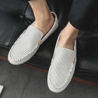 夏季新款豆豆鞋男社会小伙休闲鞋透气懒人鞋男鞋子老北京帆布潮鞋