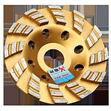 Japan purchased XH Wang thick gold diamond disc grinding marble sheet material marble concrete bowl grinding wheel