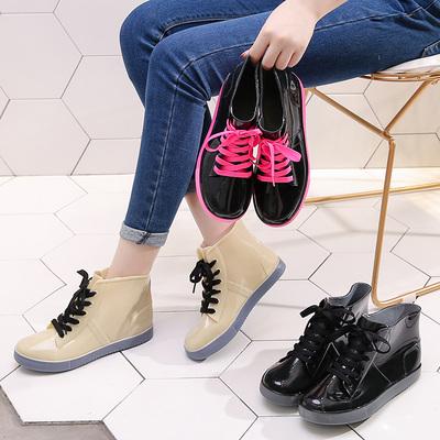 成人短筒雨鞋防水的胶鞋时尚可爱果冻套鞋雨靴女水鞋韩国防滑水靴