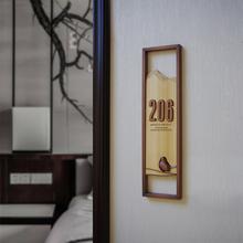 牌木牌定制创意挂牌民宿房间酒店包厢数字金属包房门牌号 门牌号码图片