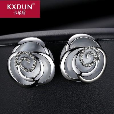 卡希盾欧美夸张耳钉女玫瑰花朵装饰耳饰耳环个性气质百搭gn920