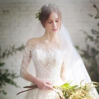 一字肩婚纱礼服2019新款春夏长袖韩版公主新娘修身显瘦齐地长拖尾
