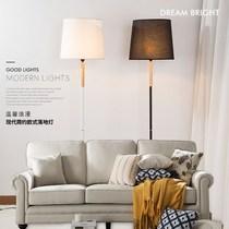 实木置物托盘落地灯客厅卧室书房床头实木台灯LED简约