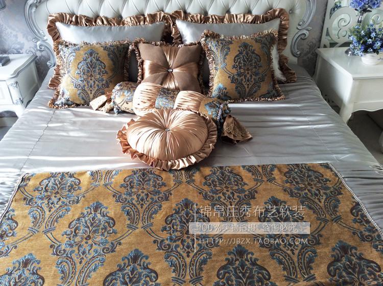 样板间床品 欧式床品 新古典床品 高档别墅床品 咖色床品 包邮