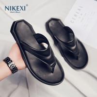高端定制尼克西男士夹脚拖鞋夏季新款时尚透气休闲沙滩人字拖鞋
