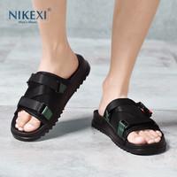 轻奢品尼克西男士室外一字拖夏季新款时尚潮流透气韩版休闲沙滩鞋