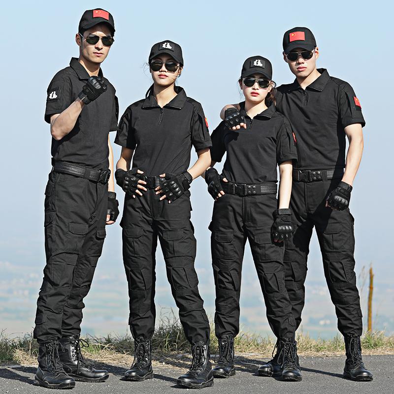 夏季迷彩服套装男特种兵短袖套装女士军装作训服CS野战服战术蛙服