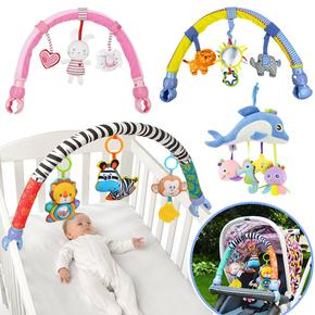 人气热卖初生婴幼儿童推车挂床挂件手摇铃宝宝座椅吊挂玩具夹01岁