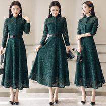 高个子秋季连衣裙子女装秋装女生欧美修身长裙适合大个子180穿的