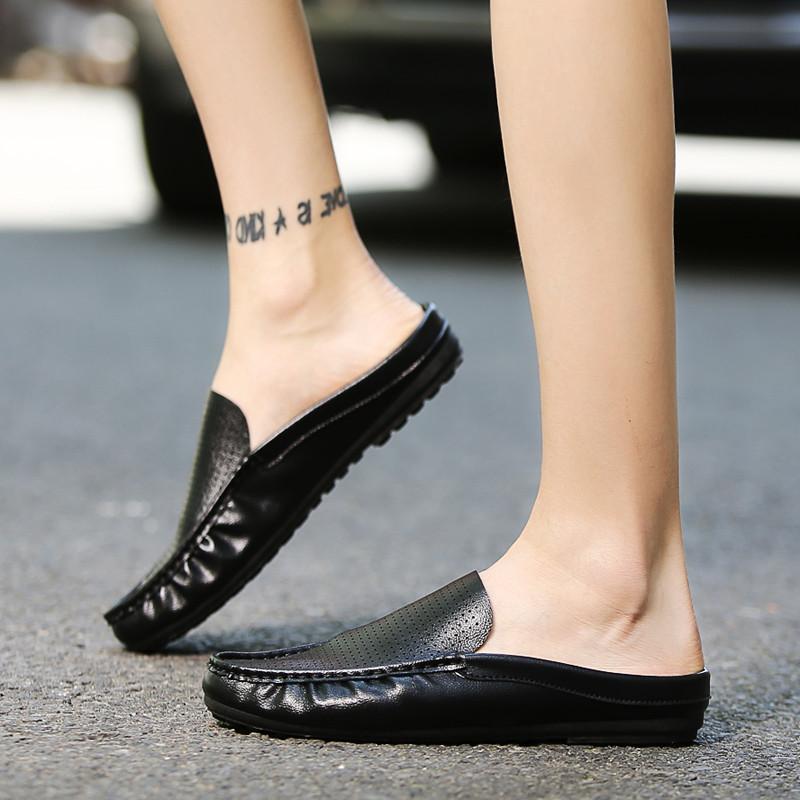 豆皮鞋拖鞋