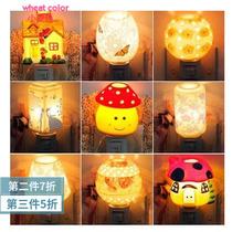 小夜灯生日礼物卧室床头学习护眼台灯喂奶灯led城堡3d