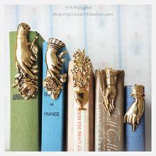 贵妇手贵妇之手天使黄铜书签手帐书夹子手型手形礼物摆拍复古进口