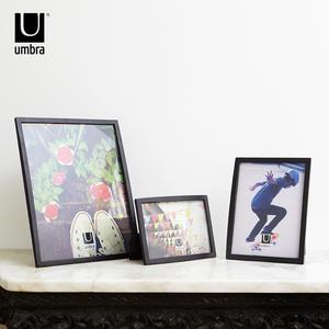 umbra圣莎相框摆台创意现代简约金属欧式桌面装饰摆件照片框展示