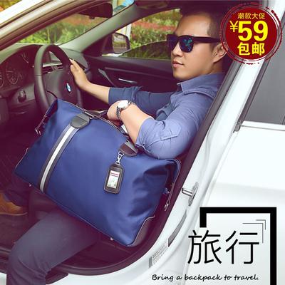 大容量尼龙商务旅行包男士短途出差旅行袋潮流手提单肩包男衣