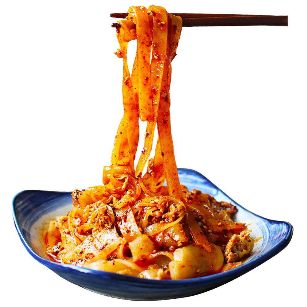 凉皮速食擀面皮真空袋装陕西特产宝鸡西安岐山汉中小吃名吃美食干