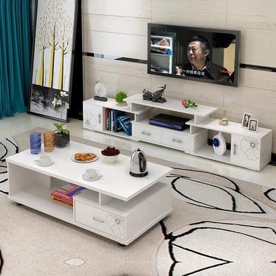 简约现代电视柜烤漆欧式伸缩卧室小户型客厅电视机柜茶几组合特价排行榜