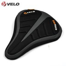 台湾VELO维乐舒适柔软自行车坐垫套硅胶木炭加厚山地车坐垫