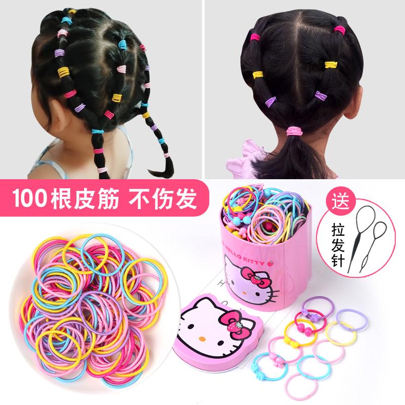 儿童头绳不伤发橡皮筋韩版卡通盒装发绳女孩扎头发圈皮筋宝宝头饰