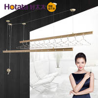 Good wife drying rack GW7260 6201 balcony lift hand double pole clothes rod thick aluminum alloy discount