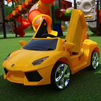 兰博基尼宝宝电动汽车女孩四轮遥控可坐人1-3-4岁婴幼儿童玩具车