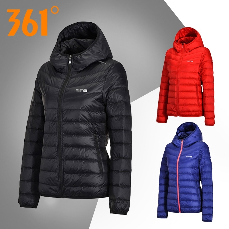 361羽絨服女短款2018新款正品361度女裝冬季上衣外套輕薄運動服女
