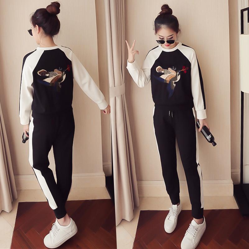 韩版加厚女套装