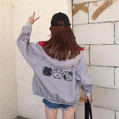 短款女装春装棒球服潮2018春季新款韩版宽松百搭学生bf薄外套外衣