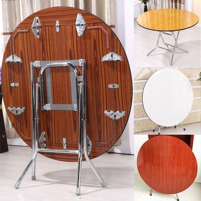 圆形简易折叠餐桌4人正方形可吃饭桌8人大圆桌子小户型家用折叠桌