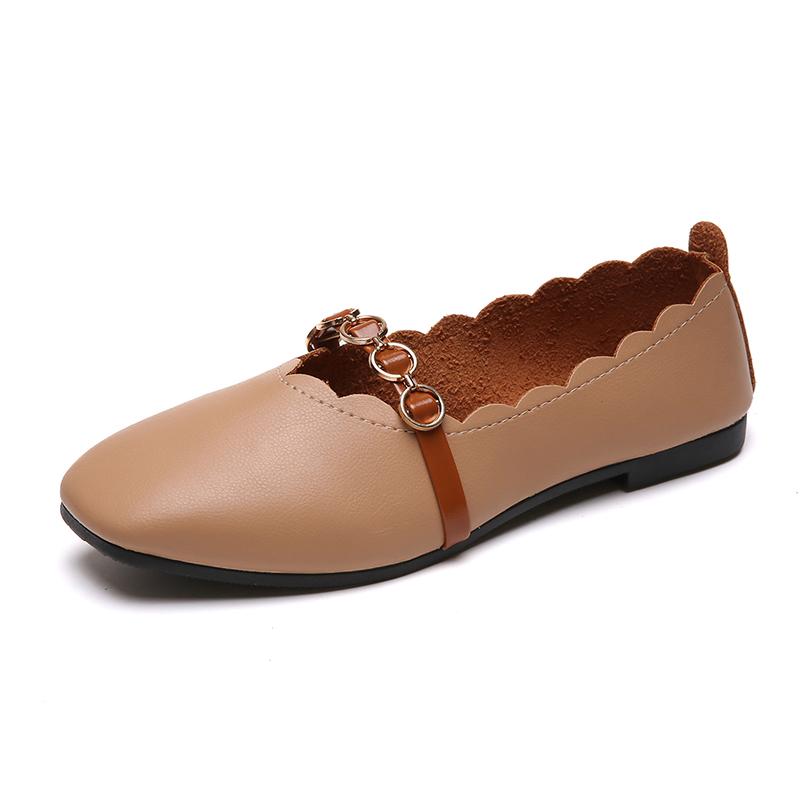 豆豆鞋女2018新款软皮奶奶鞋复古平底蝴蝶结单鞋仙女玛丽珍鞋春秋