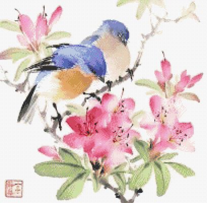 十字绣鸟图纸