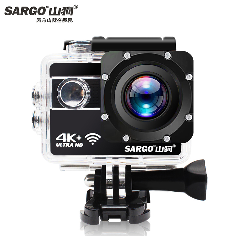 山狗A8运动照相机头盔高清4K摄像防水潜水下摩托车vlog行车记录仪