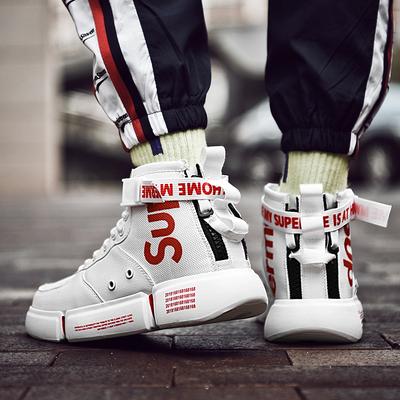 高帮鞋aj1男鞋网红韩版潮流运动鞋嘻哈ins鞋子男潮鞋白色高邦板鞋