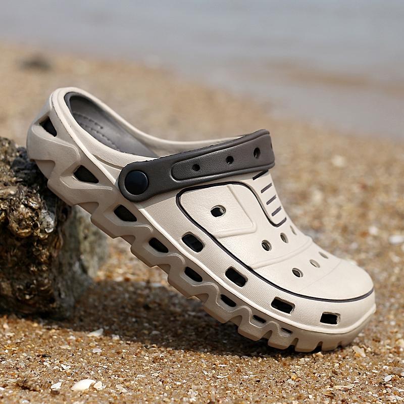 2019夏季新款洞洞鞋男士凉拖鞋男潮流个性沙滩室外穿凉鞋青年学生