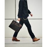 Original first layer cowhide cross section handbag leather men's OL business casual briefcase shoulder slung computer bag