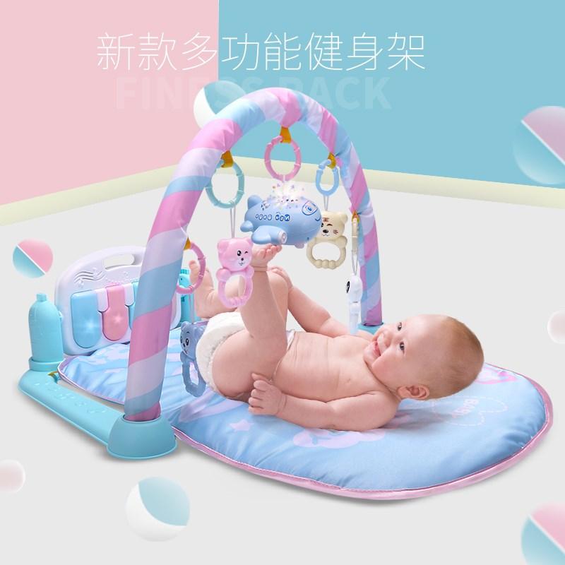 童男床头婴儿玩具百天套装神器双胞胎脚蹬小宝宝健身器音乐践踏两