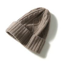 戎美厚厚暖暖软绒 Three-dimensional stranding Flanged winter hat
